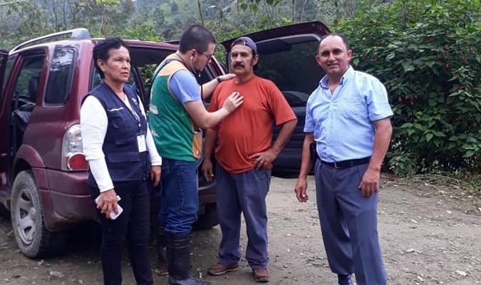 COORDINACION CON LA TENIENTE POLÍTICO Y CENTRO DE SALUD DE LA PARRAQUIA